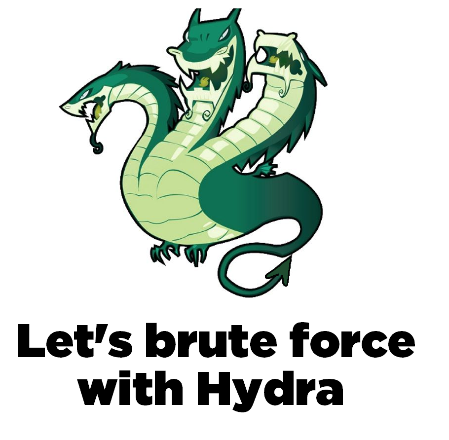 Brute force with hydra!